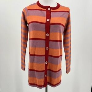 Vintage 70s Striped Cardigan Sweater Old Colony